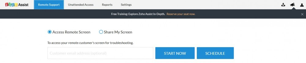 Zoho Remote Support