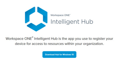 Workspace ONE Intelligent Hub for Windows Enrollment