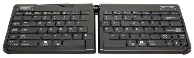 Best Wireless Ergonomic Keyboards - Goldtouch Go!2 Bluetooth Mobile Keyboard